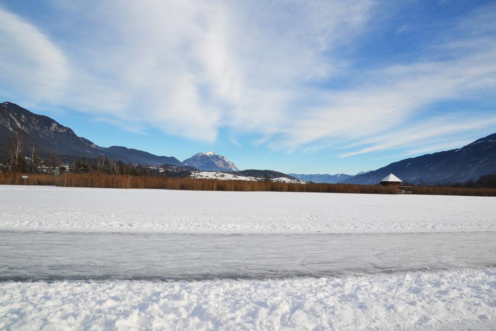 Bahn zum Eislaufen am Presseggersee