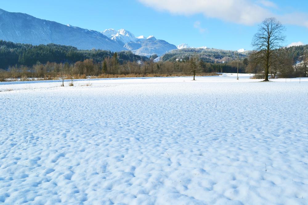 Winterlicher Blick zum Gartnerkofel