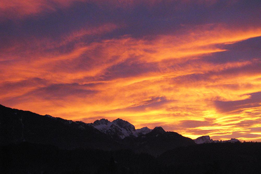 Sonnenuntergang Gartnerkofel